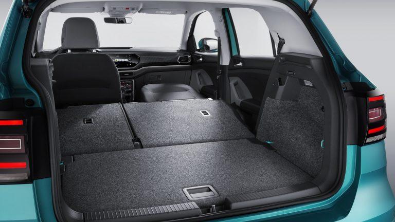 Volkswagen T-Cross сложенные сиденья