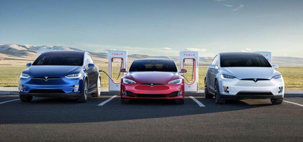 зарядка электромобилей Tesla